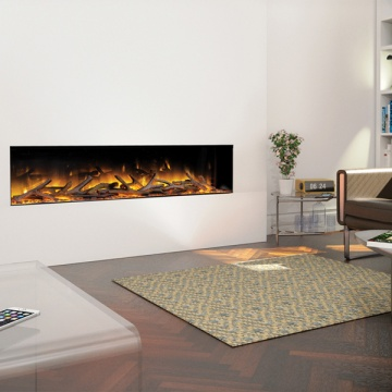Flamerite Glazer 1500 1 Sided Inset Electric Fire Flames